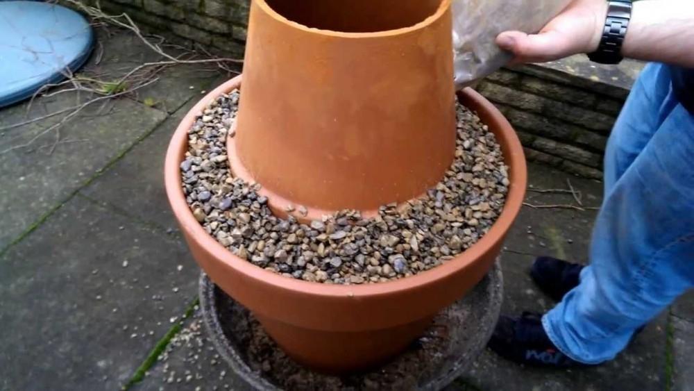 Horno tandoor para el jardín con macetas - paso 2