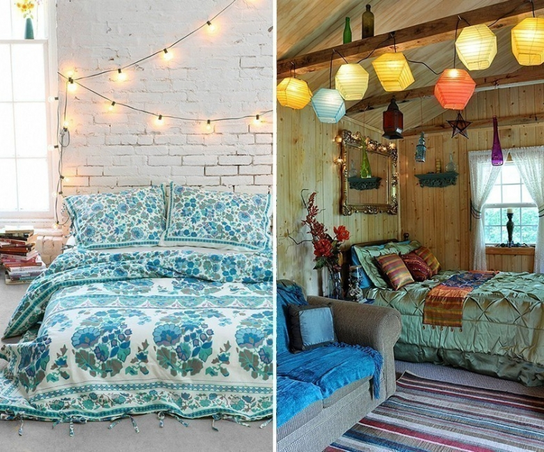 Ideas para decorar tu casa con estilo bohemio- luces