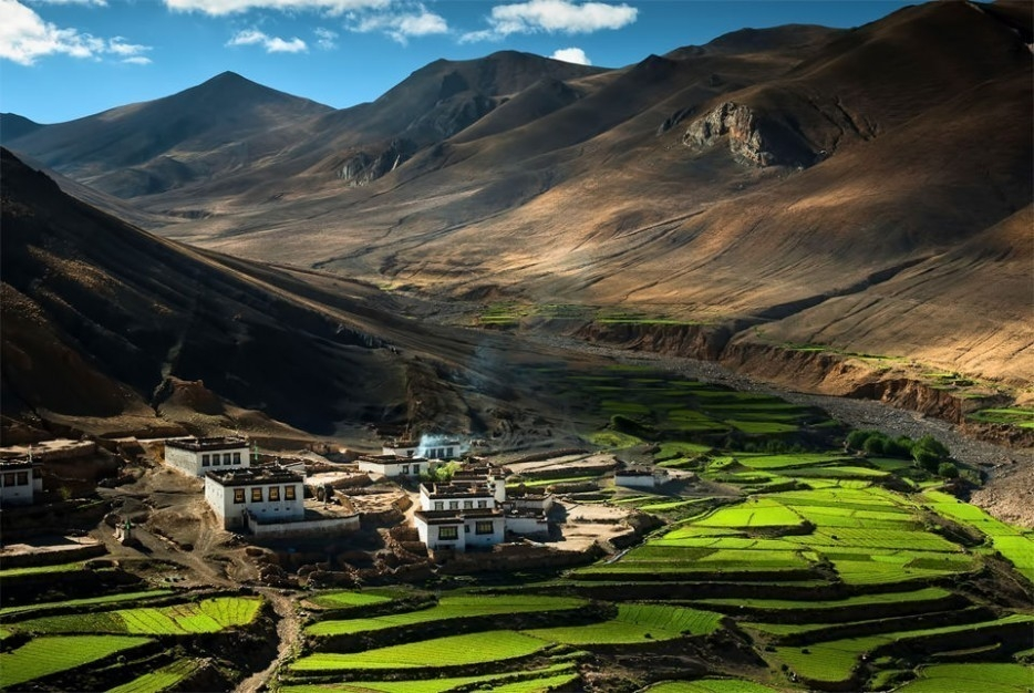 pueblos secretos - Village in the Himalayas - Tibet
