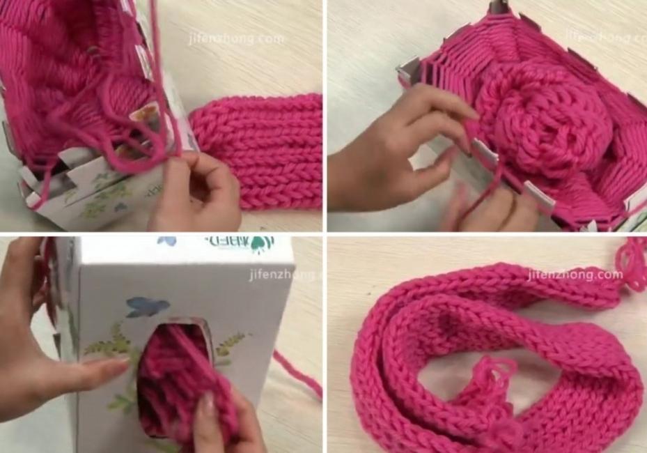 cómo hacer una bufanda sin tejer- tejer sin aguja
