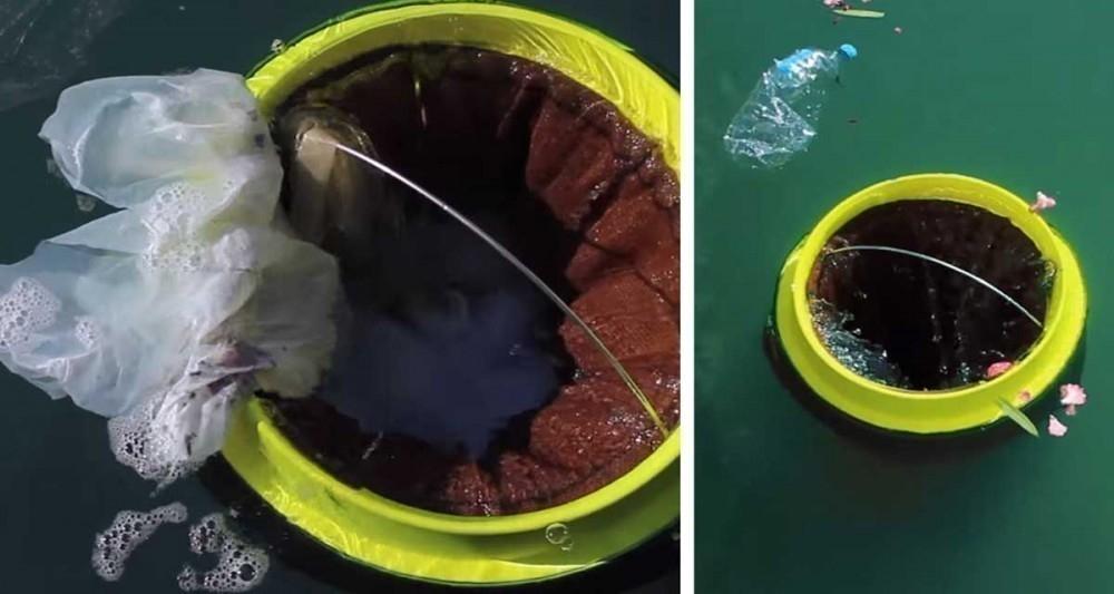 cesto que puede limpiar los océanos - cesto