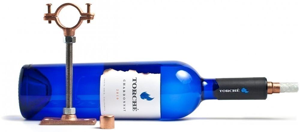 Antorcha con una botella de vidrio- materiales necesarios