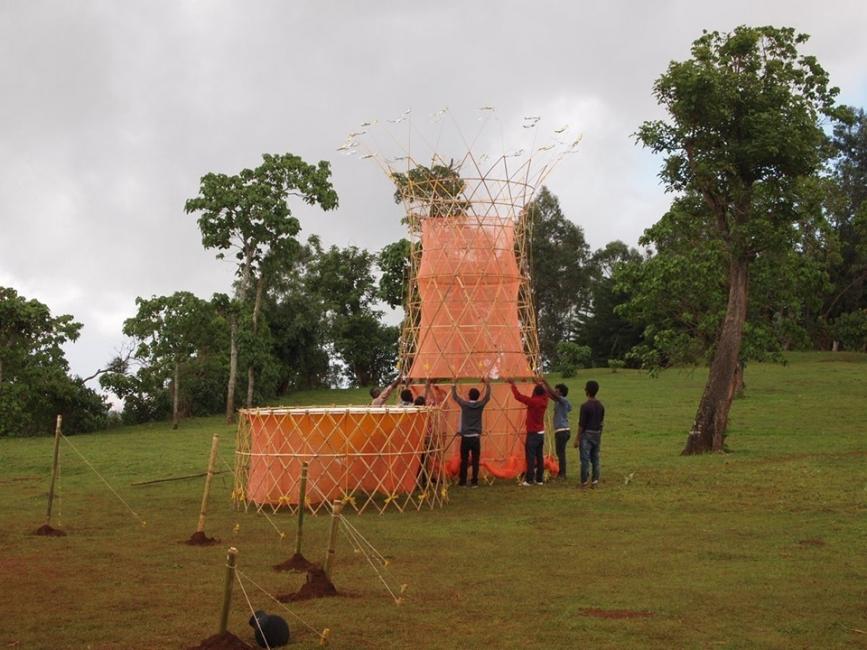 Warka Water - torre de bambú que produce agua -estado del proyecto