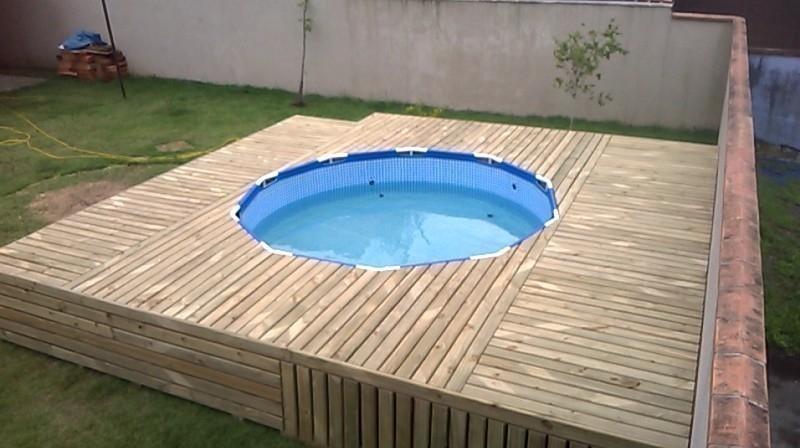 deck cobertor para piscina de lona- cómo hacer - diy