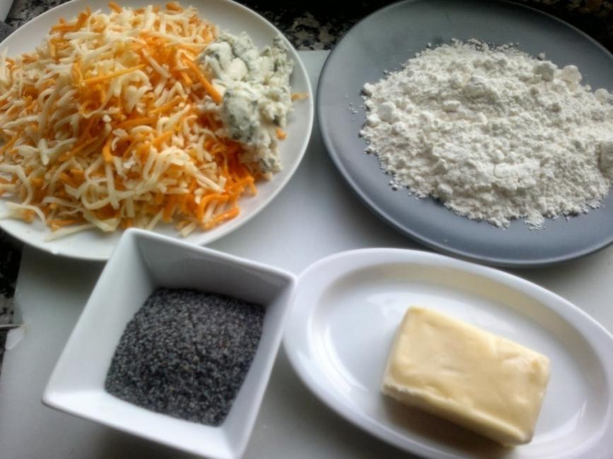 galletas de queso y semillas de amapola - ingredientes