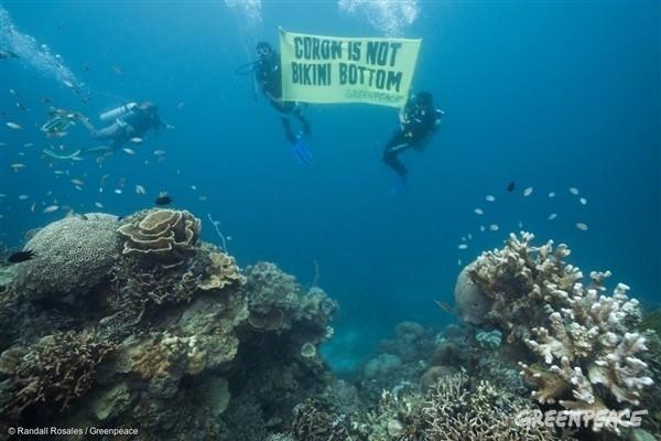 Protesta de Greenpeace en Filipinas