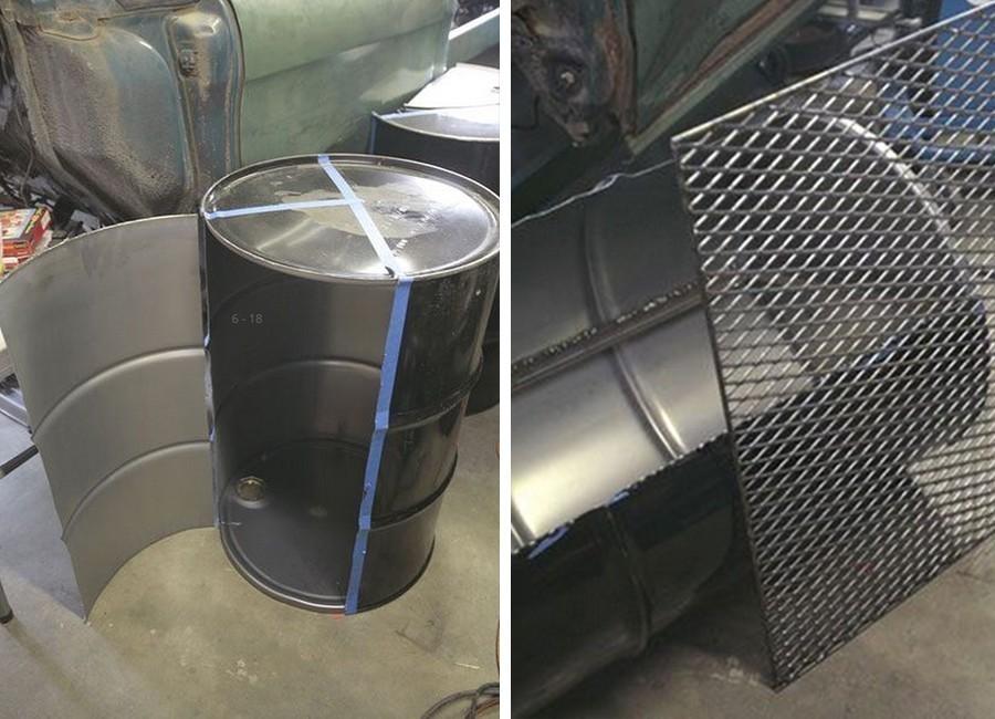 hacer un horno- parrilla con un barril reciclado - paso 2