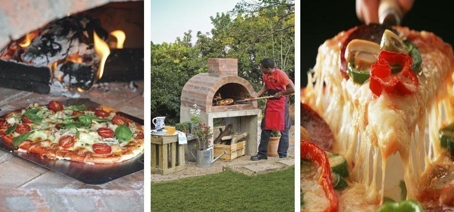 C mo construir un horno casero para pizzas for Fogones rusticos en ladrillo