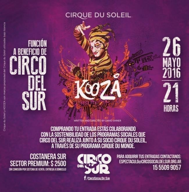 Cirque Du Soleil- espectáculo 26 de mayo- kooza