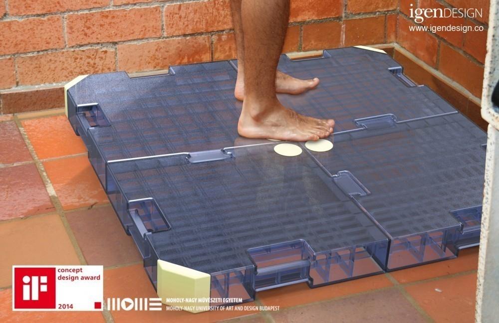 Dispositivo para ahorrar agua de la ducha - base