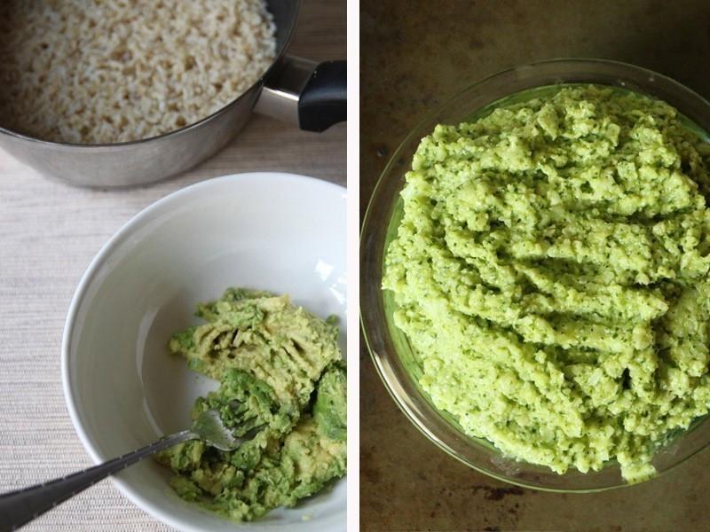 arroz con aguacate y lima - preparación
