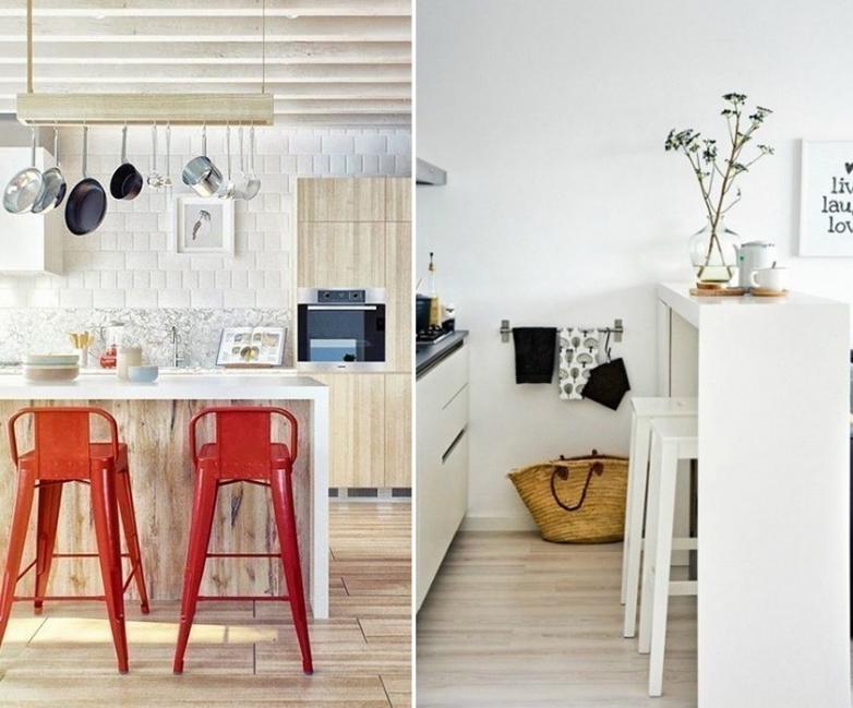 12 ideas para armar una práctica barra en la cocina-melamina