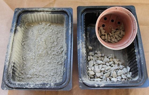 macetas modulares - con suculentas - cemento