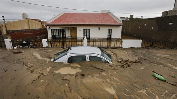 Comodoro Rivadavia después de la lluvia