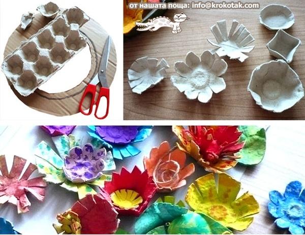 Flores Con Cajas De Huevo Bioguia