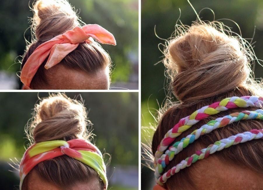 Ideas para hacer con una vieja remera - vinchas para el cabello