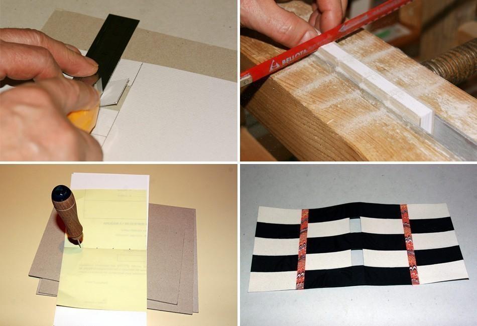 Cómo hacer un cuaderno con costura de ojal- encuadernación paso a paso