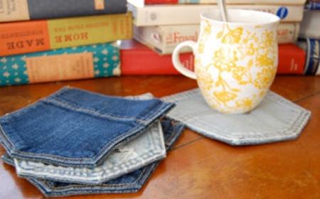 jeans posa vaso