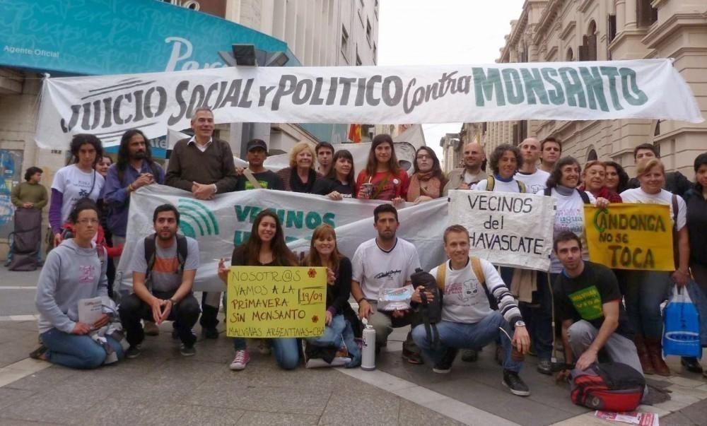Juicio a Monsanto - manifestación latinoamericana