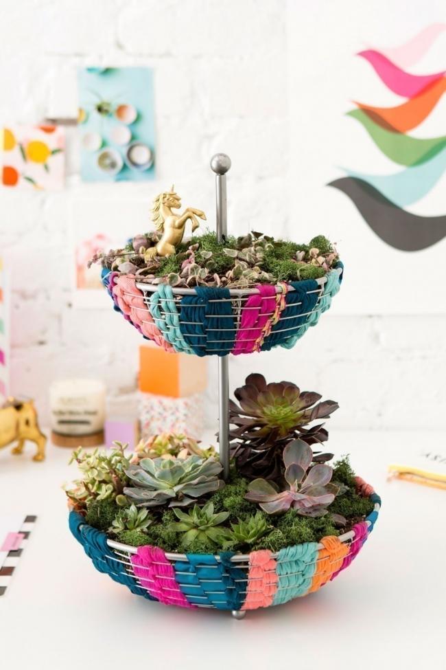 hacer un pequeño y colorido jardín para tener dentro de tu hogar terminada