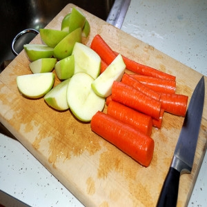 zanahorias y manzanas