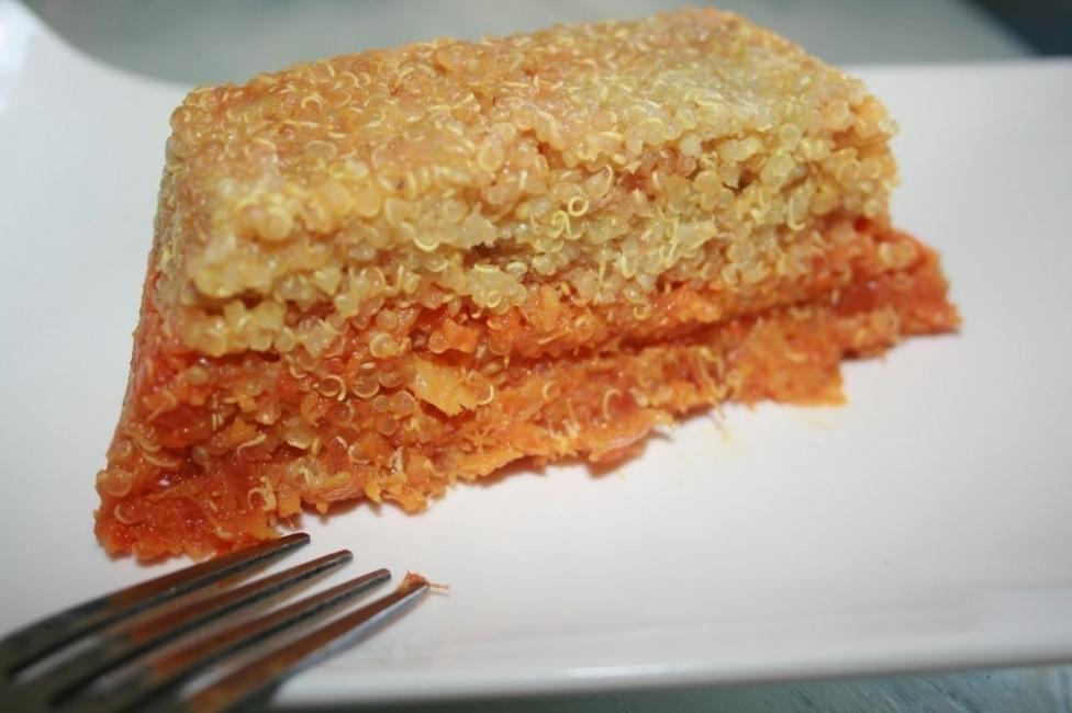tarta de quinoa y calabaza -