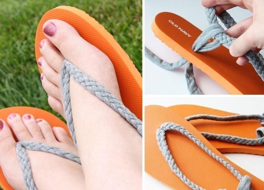 Ideas para hacer con una vieja remera -sandalias