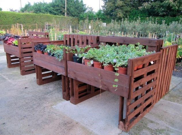 Jardinera hecha de palets