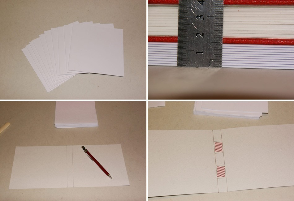 Cómo hacer un cuaderno con costura de ojal- procedimiento