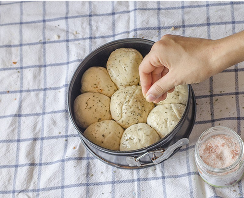 cómo hacer pizza en bollitos