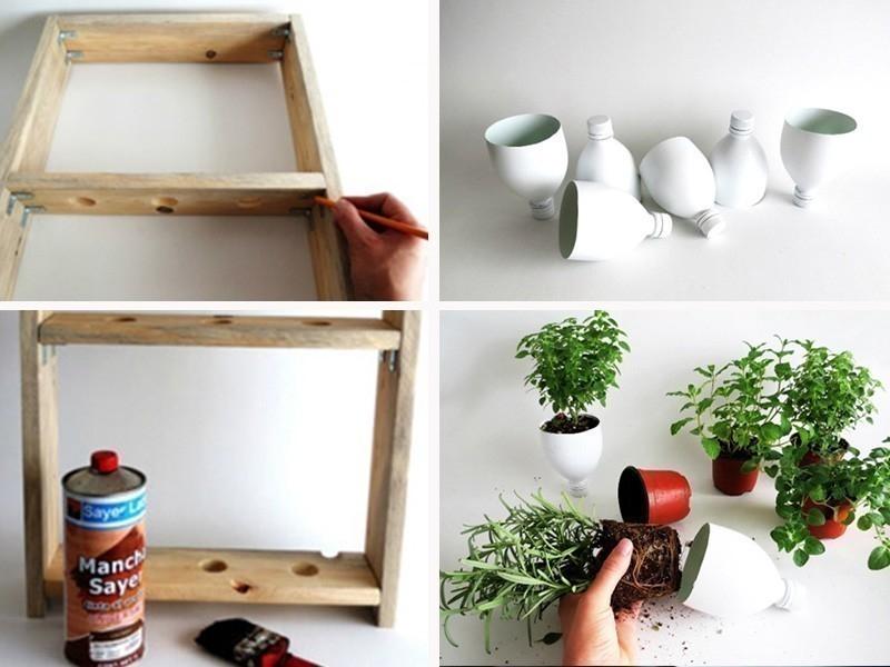 hacer un pequeño jardín aromático vertical- armado