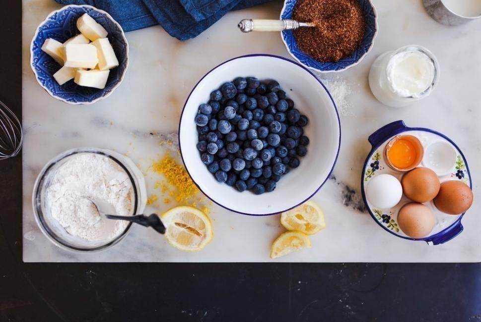Torta de arándanos y limón, ¡a la sartén!- ingredientes