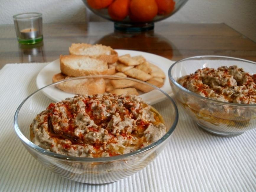 Paté de berenjenas con Tahini receta