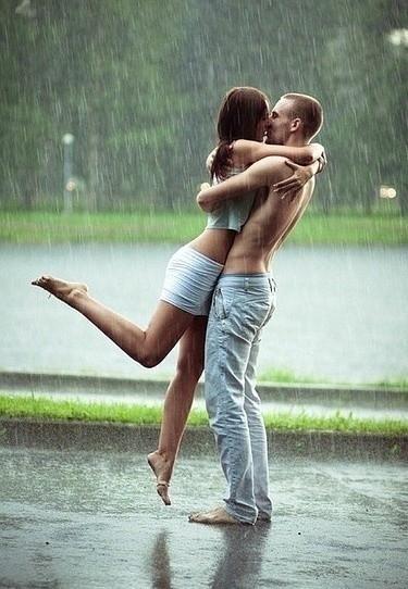 beso lluvia