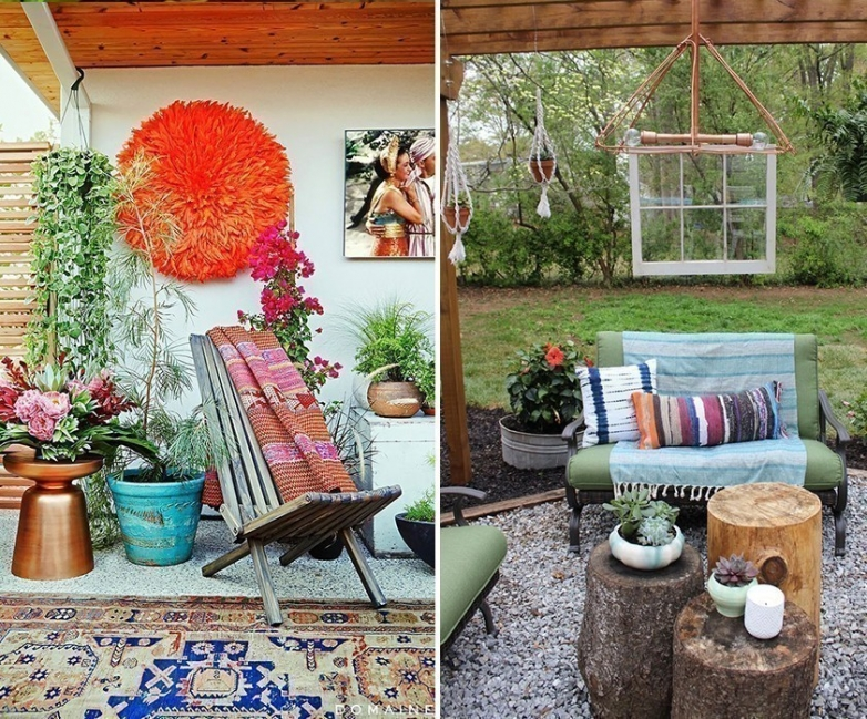 Ideas para decorar tu casa con estilo bohemio for Decoracion de paredes exteriores patios