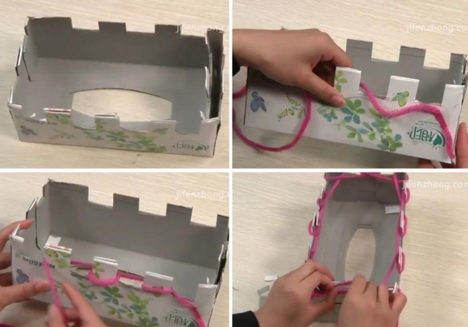 cómo hacer una bufanda sin tejer- armar caja