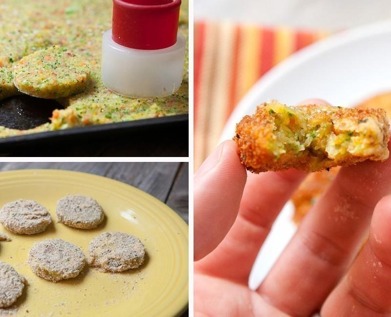 Nuggets vegetarianos- preparación