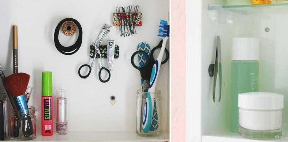 baños pequeños - botiquin con imanes