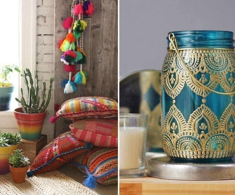 Ideas para decorar tu casa con estilo bohemio- objetos decorativos