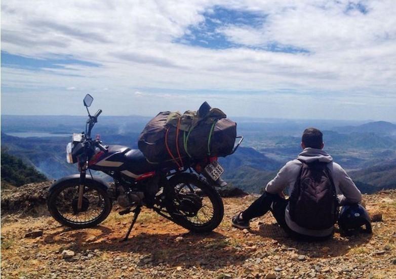 viaje en motocicleta
