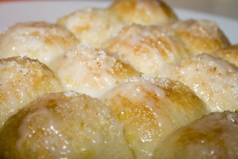 Panecillos de limón con glaseado