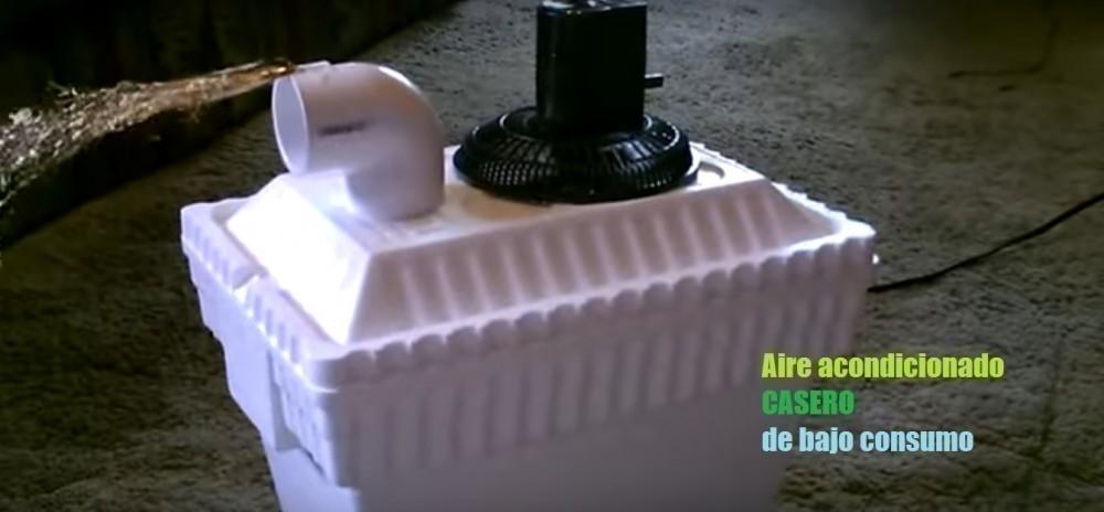 cómo hacer un aire acondicionado casero de bajo consumo