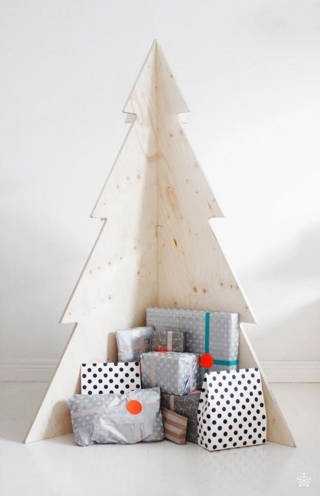 Árboles de Navidad para espacios pequeños - minimalista de madera