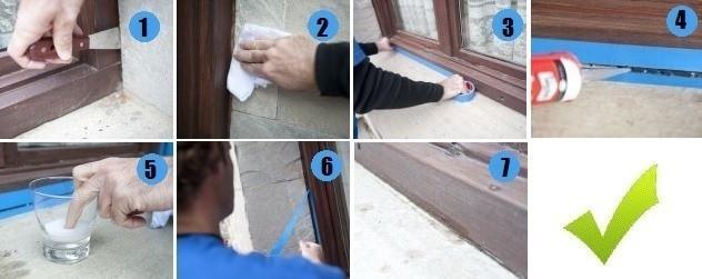 cómo aislar y sellar juntas de ventanas