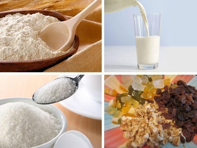 Pan dulce tradicional- ingredientes