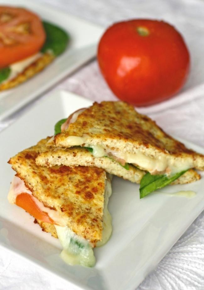 Sándwich de coliflor sin harinas