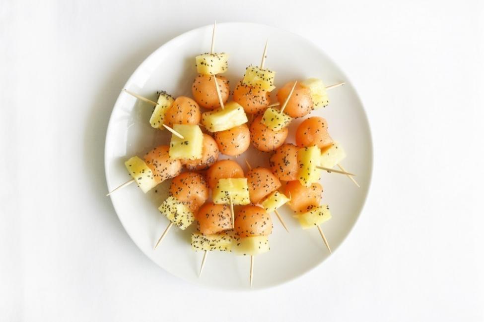 Snacks saludables- bolitas de melón