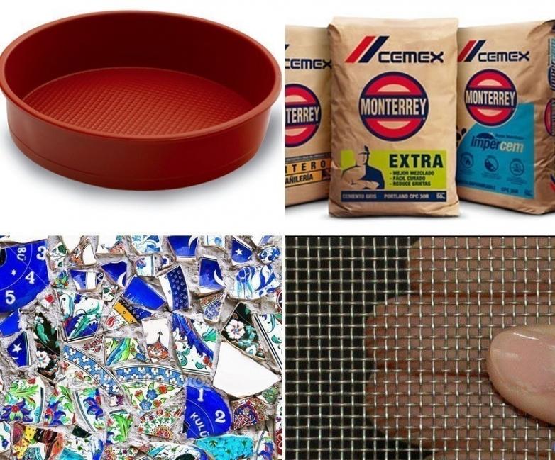 baldosas de mosaicos para tu jardín- materiales