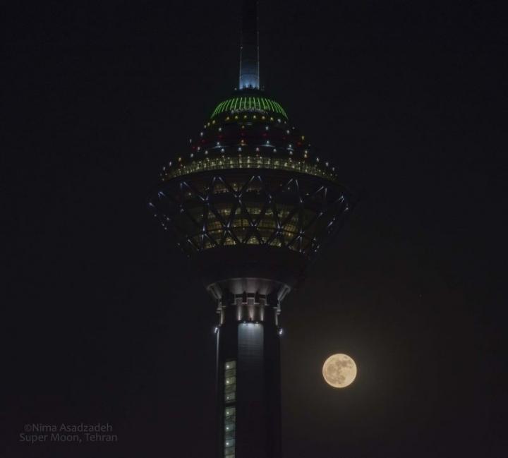 Así se vio la superluna desde Tehran