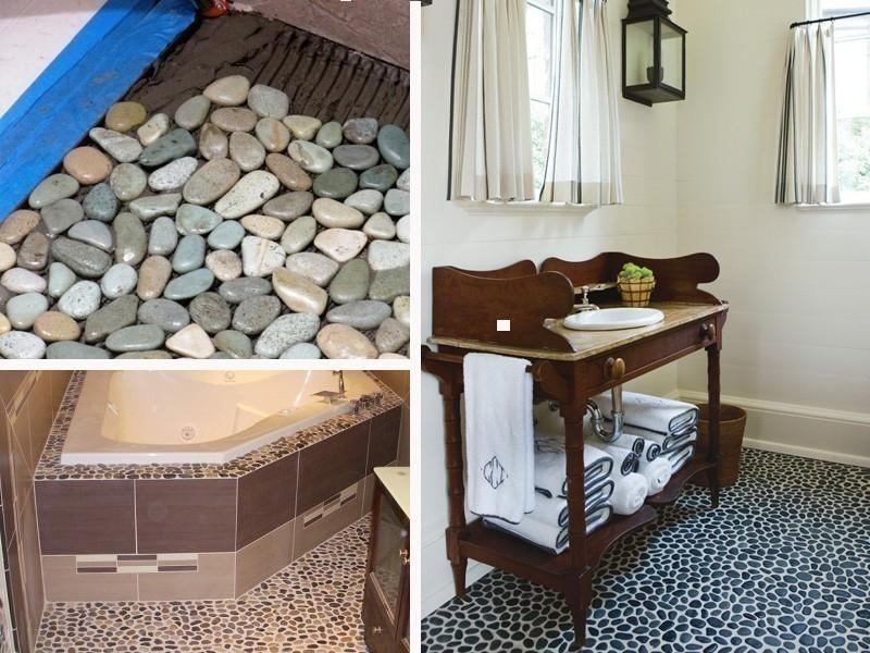 ideas alternativas para redecorar tus pisos- piedras